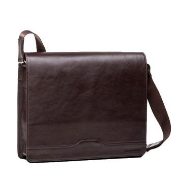 Мужская сумка с клапаном Blamont коричневая кожа class=