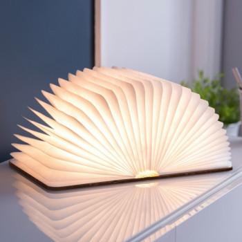 Светильник-книга Smart Book мини натуральная кожа class=
