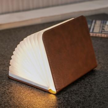 Светильник-книга Smart Book натуральная кожа class=