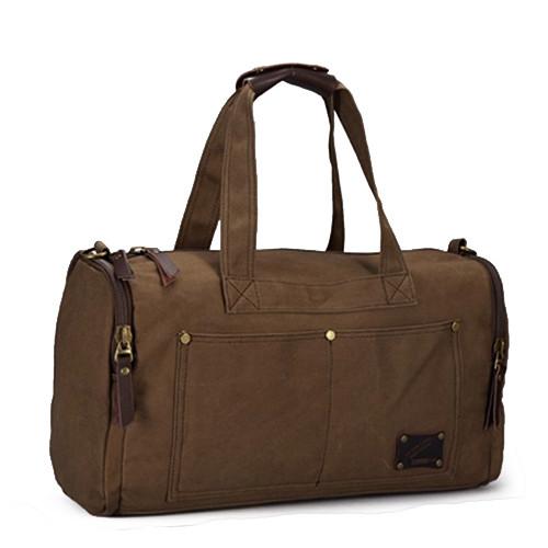 Холщовая дорожная сумка через плечо