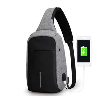 Серый кроссбоди рюкзак Minibobby с USB  class=
