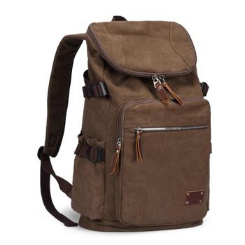 Холщовый ретро рюкзак кофейного цвета 35 литров class=