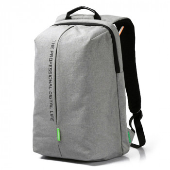Легкий городской рюкзак из водоотталкивающего материала серый class=