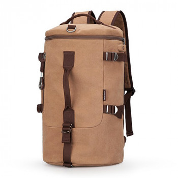 Холщовая сумка рюкзак песочного цвета 40 литров class=