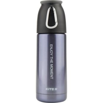 Металлический термос для напитков 350 мл Серо-фиолетовый class=