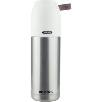 Металлический термос для напитков 350 мл Серый class=
