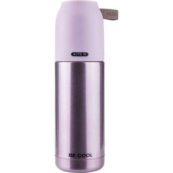 Металлический термос для напитков 350 мл Розовый class=