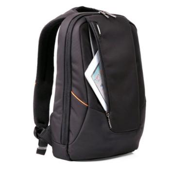 Городской рюкзак с увеличивающимся объемом черный class=