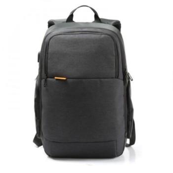 Городской рюкзак из водоотталкивающего материала черный class=