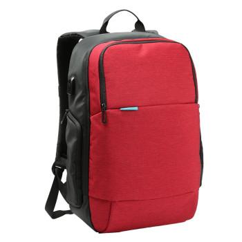Городской рюкзак из водоотталкивающего материала красный class=