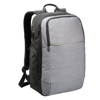 Городской рюкзак из водоотталкивающего материала серый class=