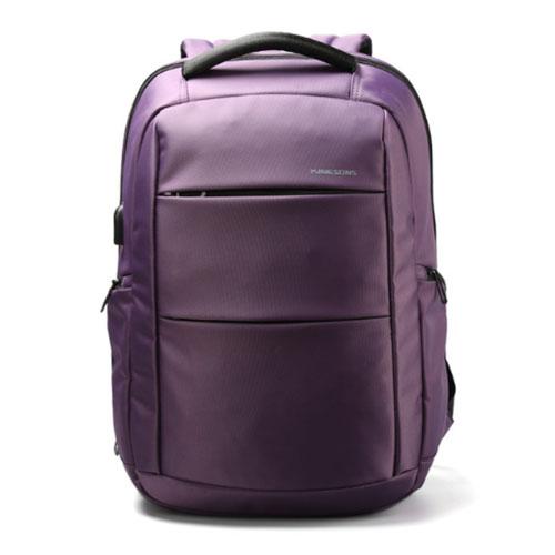 Классический городской рюкзак из водоотталкивающего материала фиолетовый