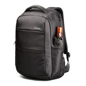 Классический городской рюкзак из водоотталкивающего материала черный class=