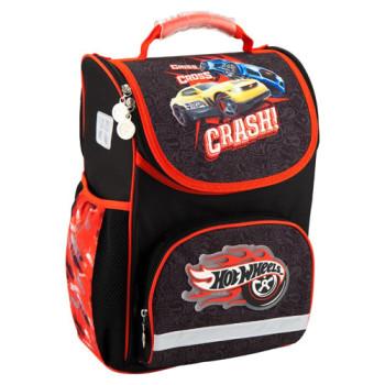 Школьный рюкзак для мальчика каркасный Kite Hot Wheels class=