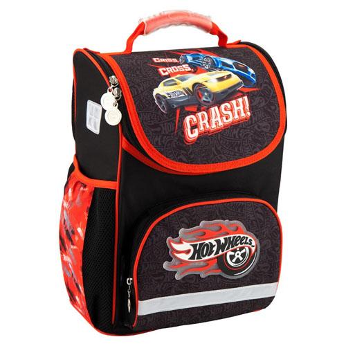 Школьный рюкзак для мальчика каркасный Kite Hot Wheels