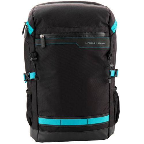 Мужской деловой рюкзак Kite Kite&More с голубыми вставками
