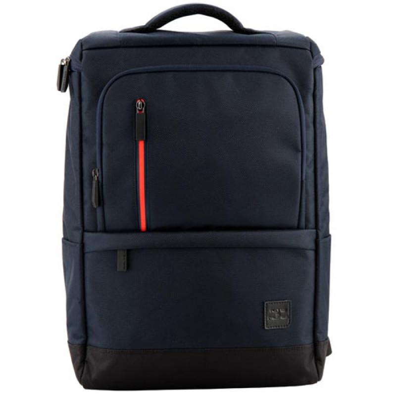 Рюкзак в деловом стиле Kite Kite&More черного цвета с оранжевой вставкой
