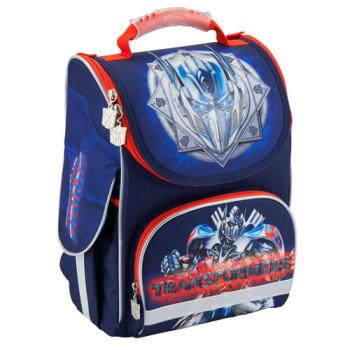 Каркасный рюкзак для мальчика Kite Transformers синий class=