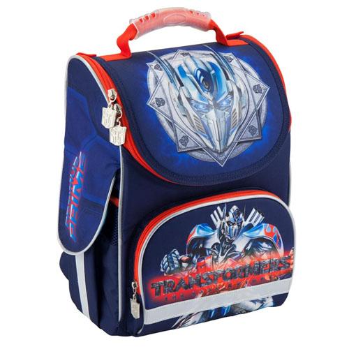 Каркасный рюкзак для мальчика Kite Transformers синий