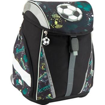 Черный школьный рюкзак Kite с футбольным мячом class=