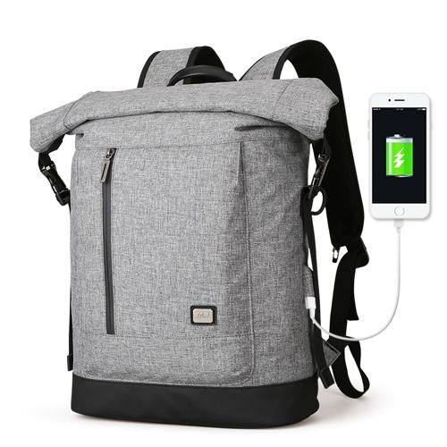 Практичный рюкзак Clever с USB серый