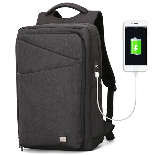 Черный городской рюкзак Cosmo с отделением для ноутбука