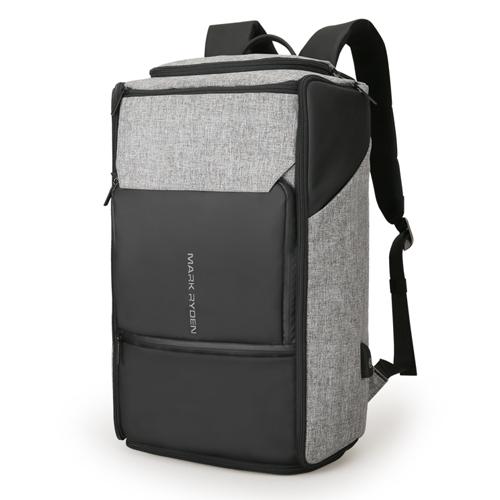 Рюкзак для путешествий Expert с антивор карманами Серый с черным