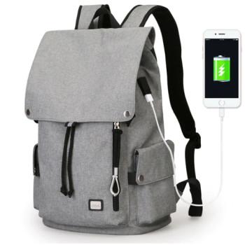 Легкий серый рюкзак Flexy с USB class=
