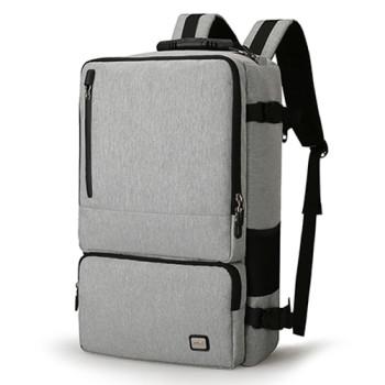 Серая сумка-рюкзак Magic антивор class=