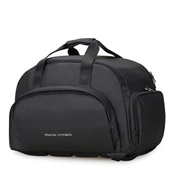 Виниловая дорожная сумка-рюкзак Maxtravel Black class=