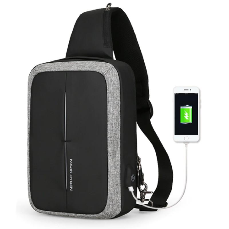 2279166b91b6 Однолямочный рюкзак антивор Mini Case с USB в интернет магазине ...