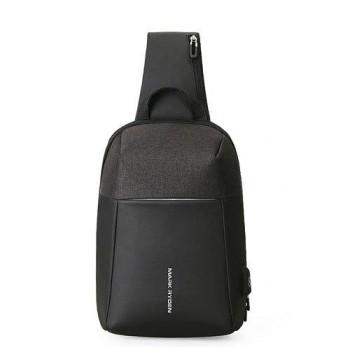 Черная сумка через плечо Mini Panzer для планшета class=