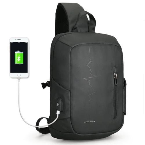 Черная сумка на плечо Minipulse с USB выходом