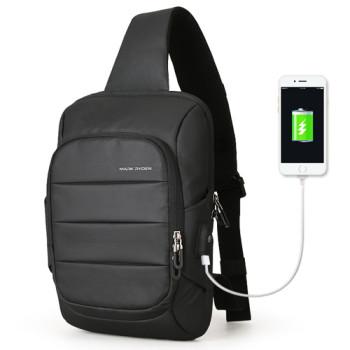 Мужской рюкзак на одно плечо Miniturtle черный class=