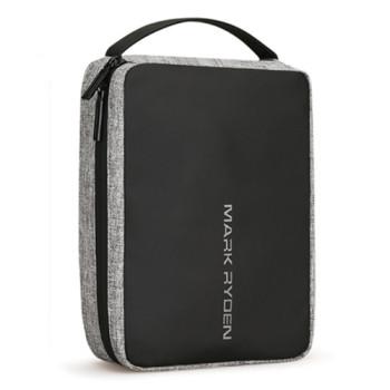 Компактная дорожная сумка несессер серая class=