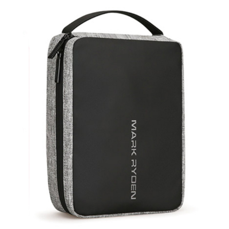 Компактная дорожная сумка несессер серая
