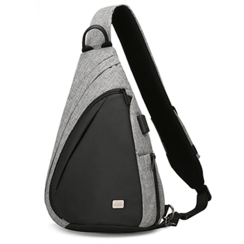 Мужской рюкзак - сумка через плечо Space серый