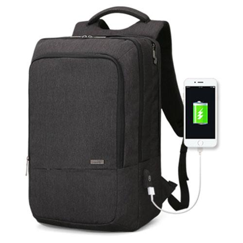 Деловой рюкзак Atomic черный с USB