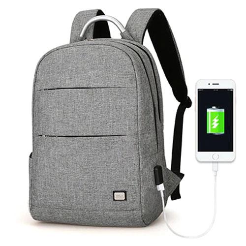 Серый рюкзак с USB Mark Ryden Oxford Gray Double-layer