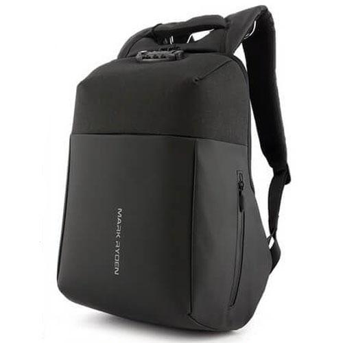 Рюкзак антивор Mark Ryden Panzer Black с USB и TSA замком