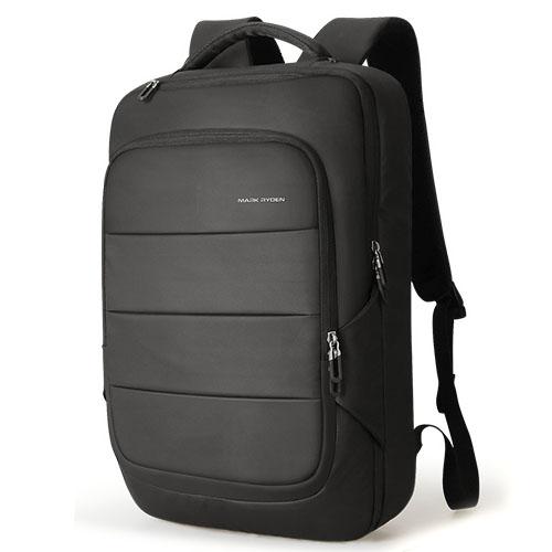 Премиум рюкзак Turtle черный с креплением на чемодан