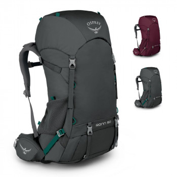 Женский туристический рюкзак с регулируемой спинкой 50 л class=