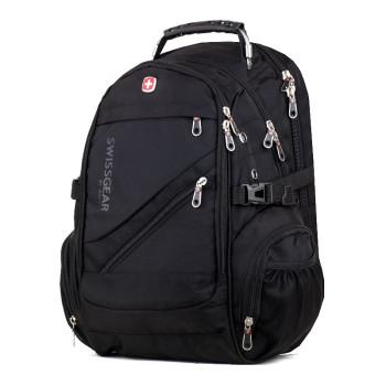 Мужской городской рюкзак черный class=