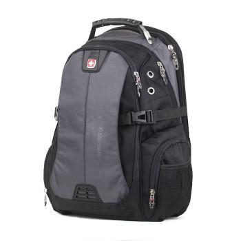 Мужской рюкзак Swissgear черный с серым объем 35 литров class=