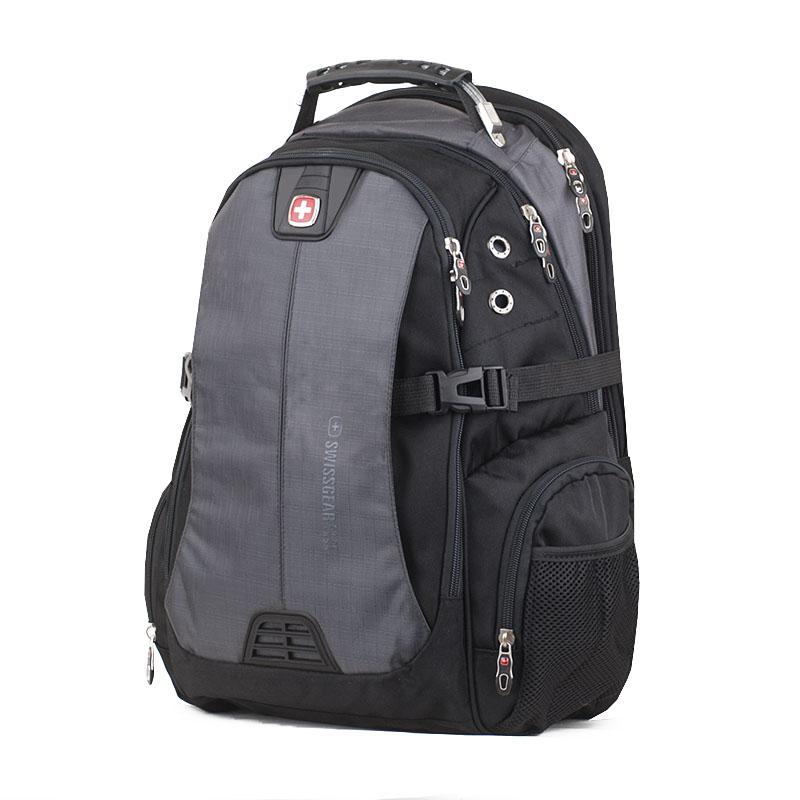 Мужской рюкзак Swissgear черный с серым объем 35 литров
