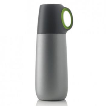 Термос Bopp Hot 600 мл серый с зеленым class=