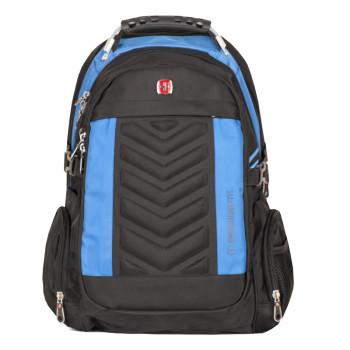 Мужской рюкзак для города черный с синим class=