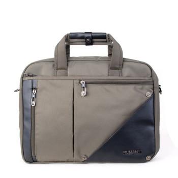 Деловая мужская сумка оливкового цвета Отделения для ноутбука 15 дюймо class=