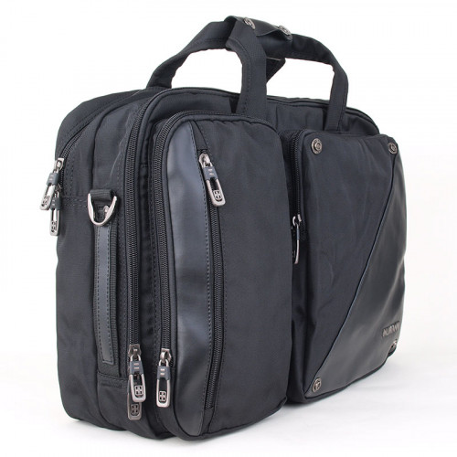 """Портфель с кожаными вставками Numanni с отделением для ноутбука 15"""""""