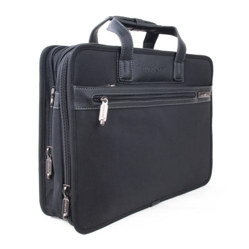 """Портфель дипломат мужской для ноутбука 15"""" с возможностью увеличения объема"""